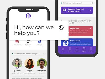 Maya iOS App consultation health ui design product ios