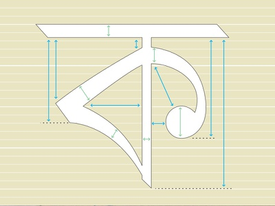 Spaces in ক space design typography type bangla