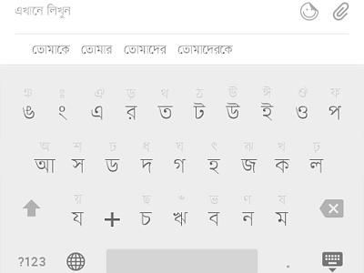 A Brand New Bangla Keyboard experiment type keyboard bangla