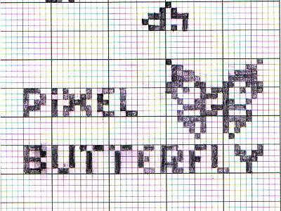 Pixel Butterfly fun butterfly line pencil pixel