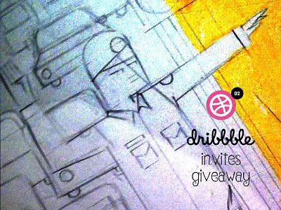 Dribbble invites to giveaway! surprise designer giveaway invites