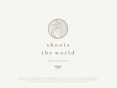 Shoots The World wave sun logo design branding design logo vector adobe illustrator