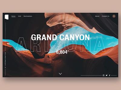 zona xd landing page grand canyon arizona web ux ui