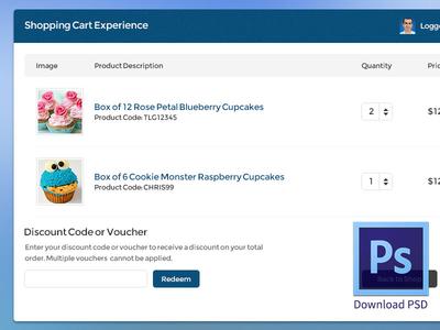 Freebie PSD: Shopping Cart
