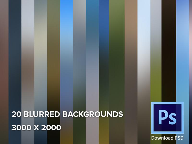 20 Blurred Backgrounds freebie gradient wallpaper blurred background resource colored blur images psddd