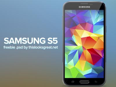 Samsung Galaxy S5 PSD Freebie