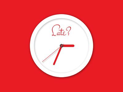 Freebie PSD: Clock clock flat freebie late psd red time