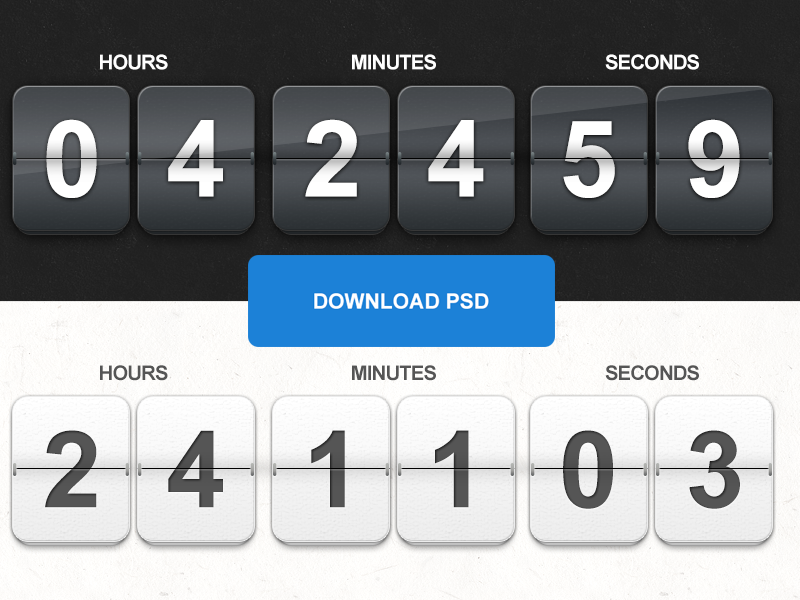 Freebie PSD: Countdown timer by Barin Christian on Dribbble
