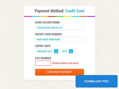 PSD Freebie: Checkout Payment Method checkout credit card ecommerce freebie method payment psd shop visa psd