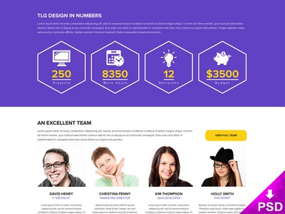 Design Studio Webpage website webpage user interface ui studio purple freebie download for free design