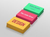 Colorful business cards 1000x750