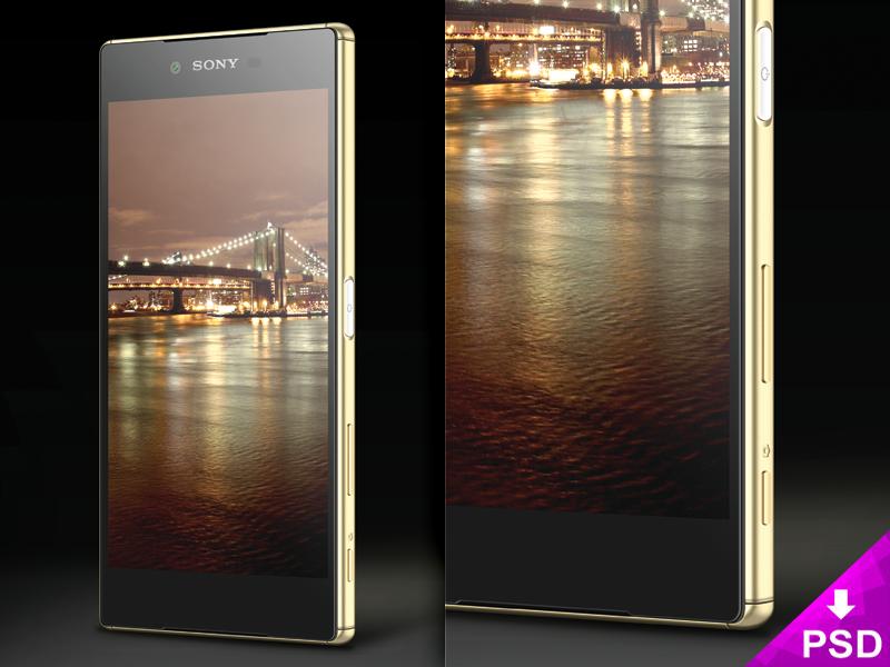 Sony Xperia Z5 Mockup xperia z5 sony realistic psd mockup freebie free download design