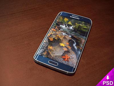 Samsung Galaxy S6 Edge Blue new stock samsung s6 mockup freebie edge design blue