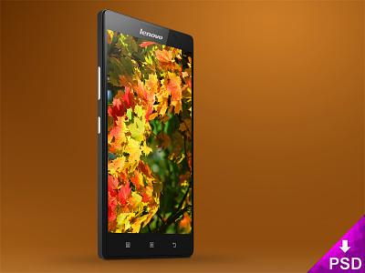 Lenovo P90 Mock-up new lenovo smartphone resource psd p90 mockup freebie free download