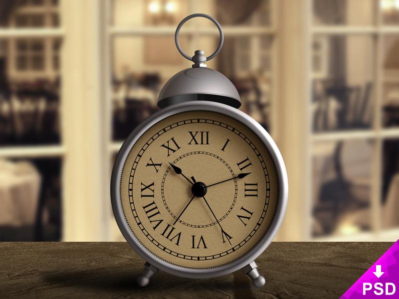 Vintage Alarm Clock Design Photoshop Psd Freebie Free New Style Clock Alarm Vintage