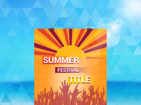 Summer festuval flyer