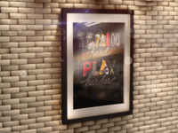 3d frame on brick wall mock up angle 1 - Poster in 3D Frame on Brick Wall Mock-up