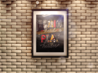 3d frame on brick wall mock up front - Poster in 3D Frame on Brick Wall Mock-up