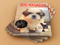 Magazine cover and interior mock up cover