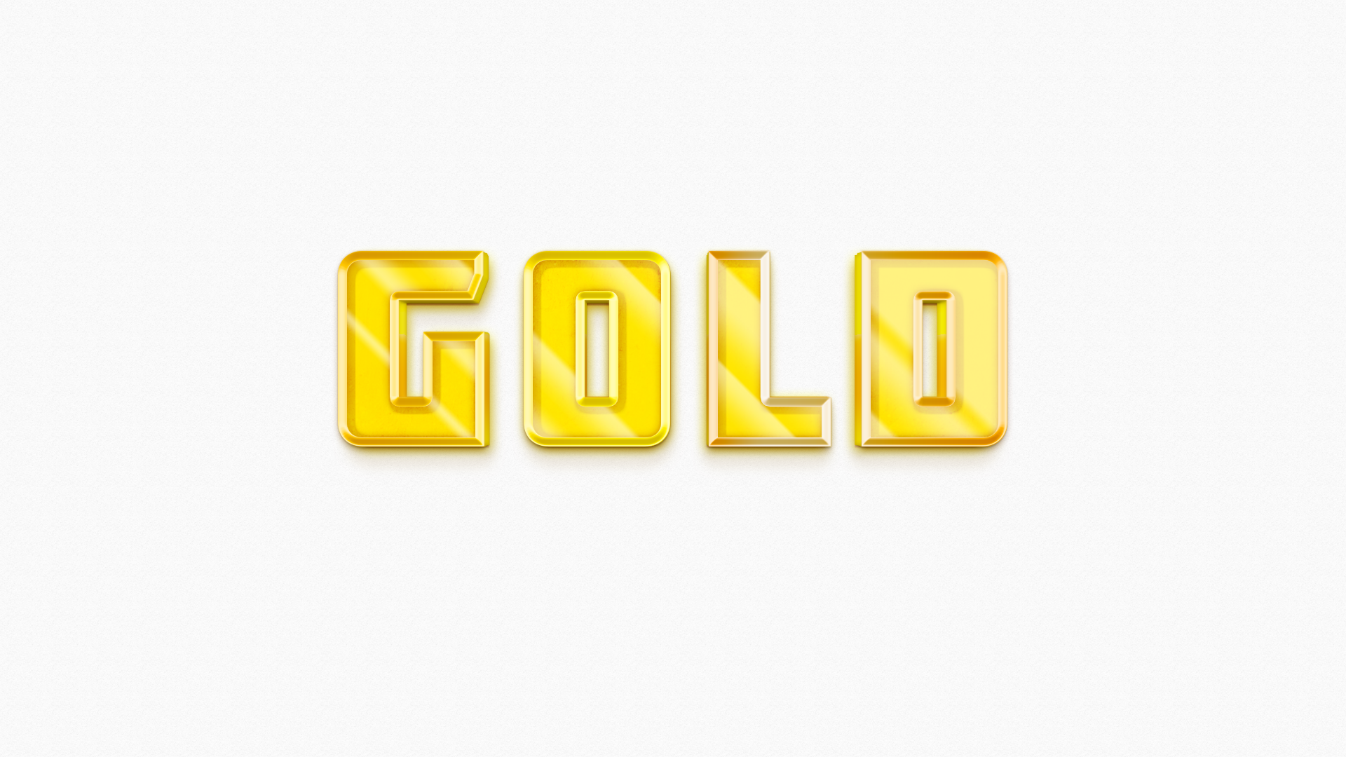 3d gold layer style full preview