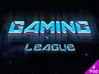 Gaming League Text Style