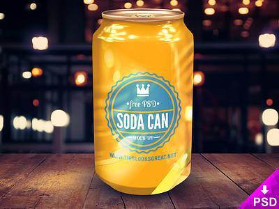Soda Can Mockup resource psd design graphic free download mockup can new soda