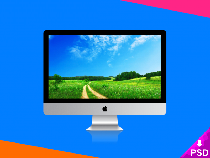 Apple imac psd mockup preview