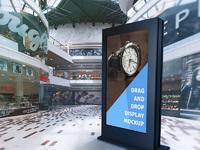 Mall billboard psd mockup presentation