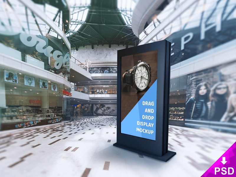 Mall Billboard Psd Mockup design graphic image psd virtual free mall