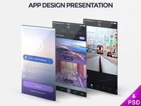 App Design Presentation Mockup