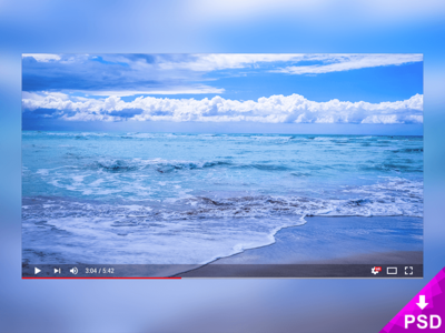 Modern Youtube Player Mockup free graphic design psd mockup player youtube modern