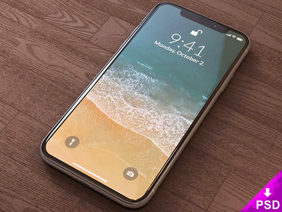 iPhone X Mockup phone psd resource photoshop freebie mockup iphonex