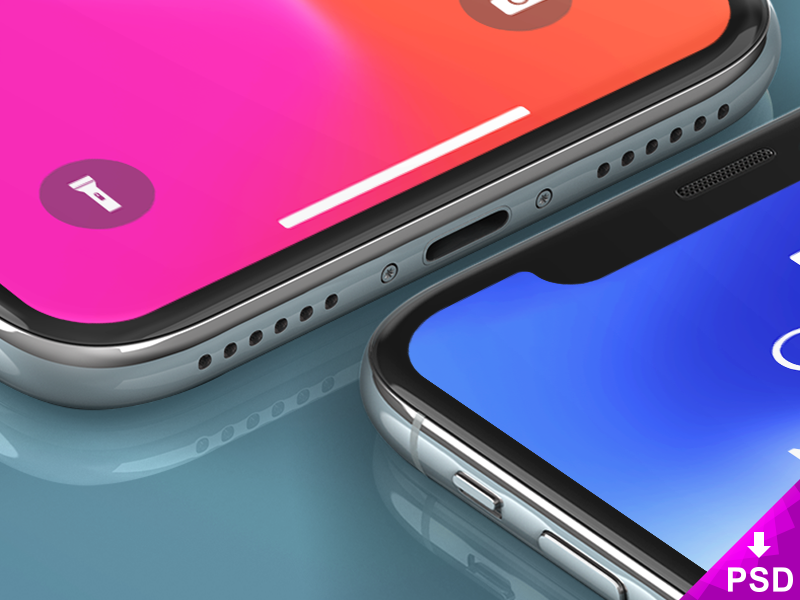 3 iPhone X Freebie Mockups layered. renders iphone apple freebies free mockups iphone x photoshop