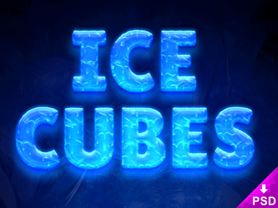 Ice Cubes Text Style Freebie great looks this psd frost frozen cubes freebie ice