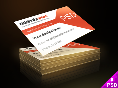 Business Card Freebie Mockup PSD object smart photoshop free psd card business freebie mockup