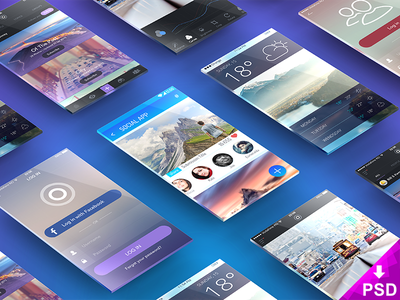 App Presentation Mockup smart object photoshop app freebie psd mockup presentation