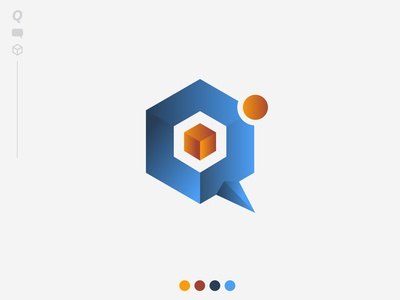 Q - Cube Logo Concept