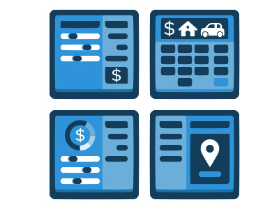 Calculator Icons mortgage loan icon calculator