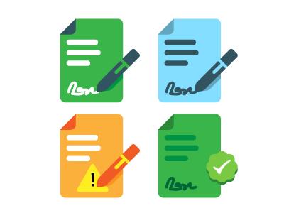 Document Readiness States signature icon document