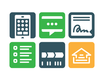 Loan Process Icons homebuying loan icon