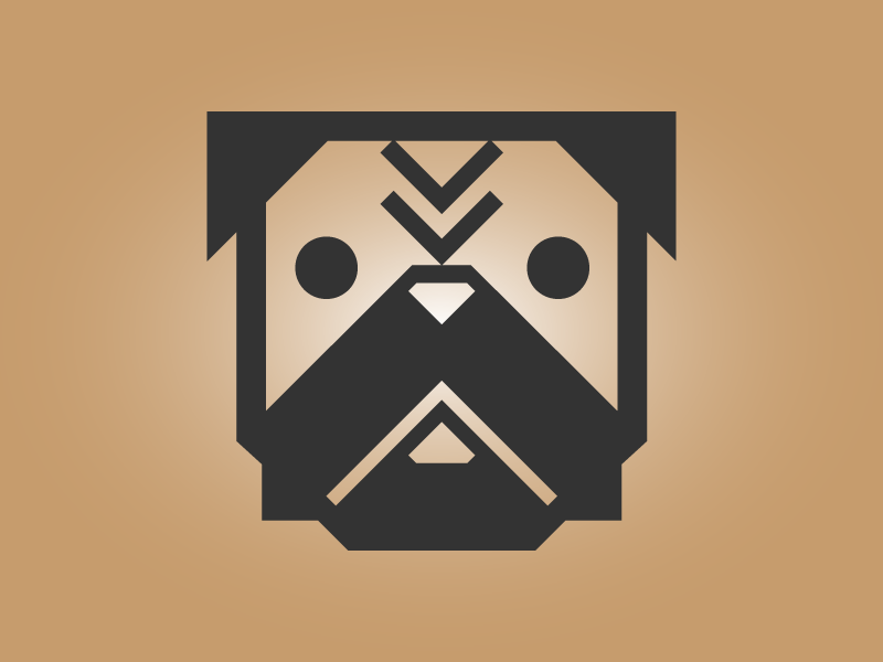Obey the Pug dog illustration icon pug