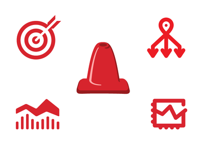 Finance App Icons options chart traffic cone