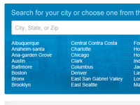 Pick your city
