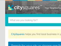 CitySquares Home Redesign
