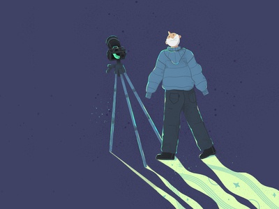 A photographer taking Aurora