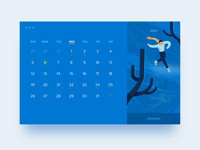 HELLO2020 calendar · January | ice-skating and mathematics