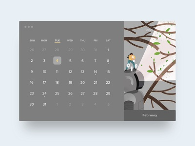 HELLO2020calendar ·February |sprout and artificial intelligence