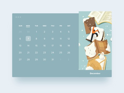 HELLO2020calendar · December | Snow and Bookmountain