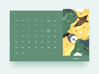 HELLO2020calendar · August | Wild Geese Flying South