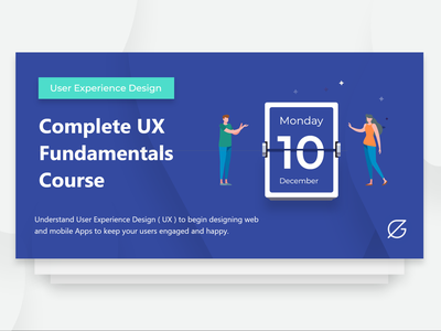 My UX design course cover - Egypt ux ui illustration comingsoon egypt ux course